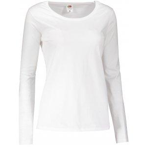 Dámské triko s dlouhým rukávem FRUIT OF THE LOOM LADY FIT VALUEWEIGHT T WHITE