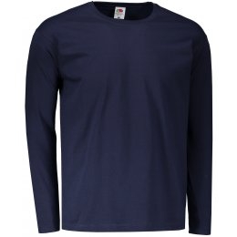 Pánské triko s dlouhým rukávem FRUIT OF THE LOOM VALUEWEIGHT LONG SLEEVE T DEEP NAVY