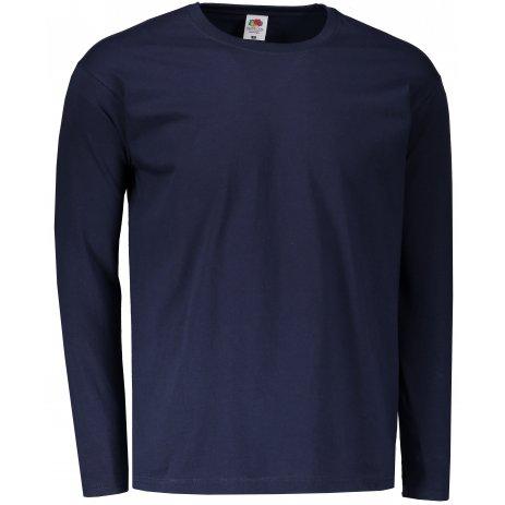 Pánské triko s dlouhým rukávem FRUIT OF THE LOOM VALUEWEIGHT LONG SLEEVE T DEEP NAVY