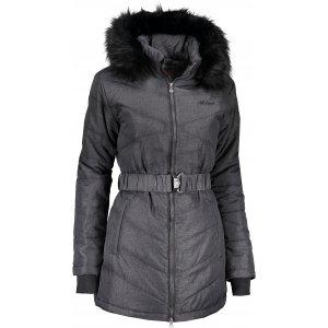 Dámský zimní kabát ALTISPORT SAVINA TMAVÝ MELÍR