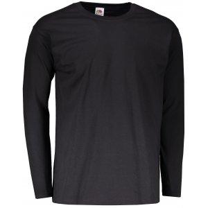 Pánské triko s dlouhým rukávem FRUIT OF THE LOOM VALUEWEIGHT LONG SLEEVE T BLACK
