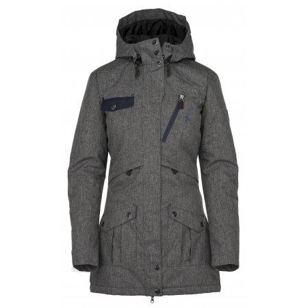 Dámský zimní kabát  KILPI BRASIL-W JL0909KI TMAVĚ ŠEDÁ