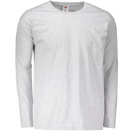 Pánské triko s dlouhým rukávem FRUIT OF THE LOOM VALUEWEIGHT LONG SLEEVE T HEATHER GREY