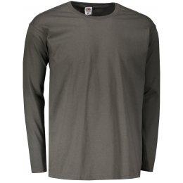 Pánské triko s dlouhým rukávem FRUIT OF THE LOOM VALUEWEIGHT LONG SLEEVE T LIGHT GRAPHITE