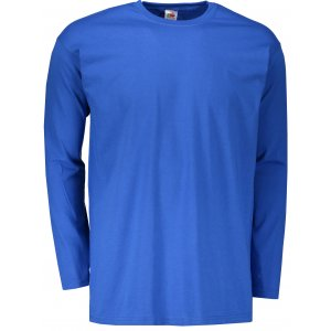 Pánské triko s dlouhým rukávem FRUIT OF THE LOOM VALUEWEIGHT LONG SLEEVE T ROYAL BLUE