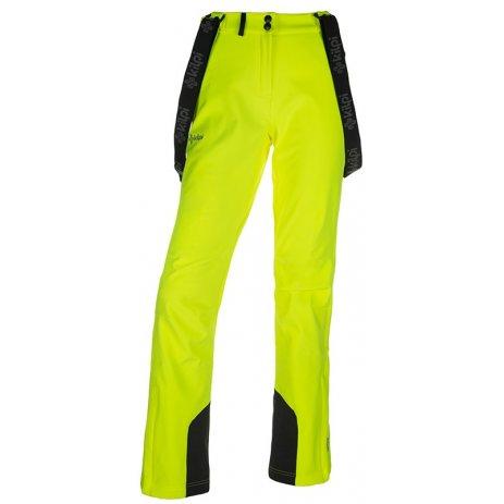 Dámské zimní softshellové kalhoty  KILPI RHEA-W JL0907KI ŽLUTÁ