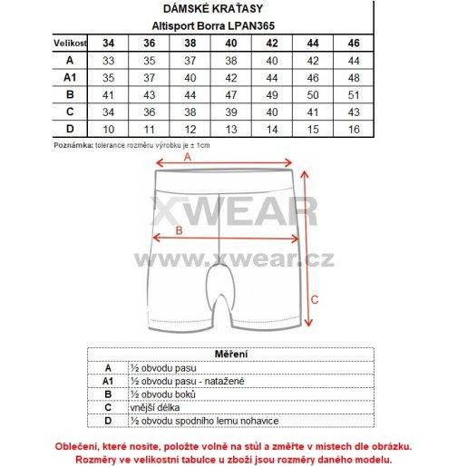 Dámské šortky ALTISPORT BORRA LPAN365 MODRÁ