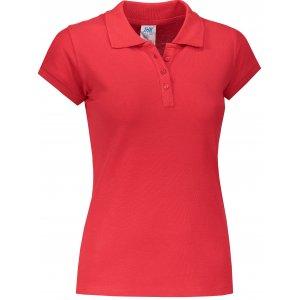 Dámské triko s límečkem JHK REGULAR LADY RED