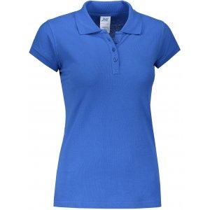 Dámské triko s límečkem JHK REGULAR LADY ROYAL BLUE