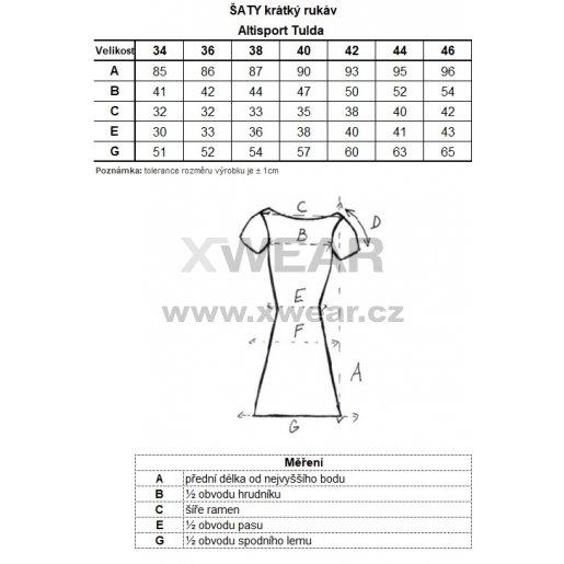 Dámské šaty ALTISPORT TULDA LSKN196 TMAVĚ MODRÁ