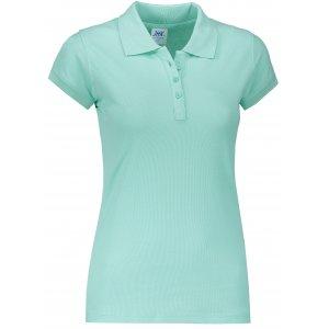Dámské triko s límečkem JHK REGULAR LADY MINT GREEN