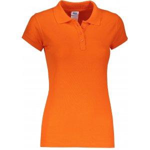 Dámské triko s límečkem JHK REGULAR LADY ORANGE