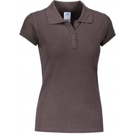 Dámské triko s límečkem JHK REGULAR LADY GRAPHITE