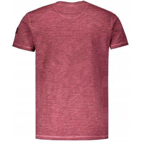 Pánské triko s krátkým rukávem KIXMI HINES VÍNOVÁ