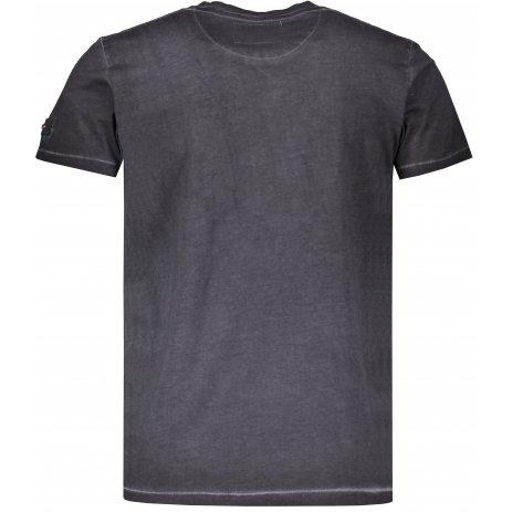 Pánské triko s krátkým rukávem KIXMI HADLEY TMAVĚ ŠEDÁ
