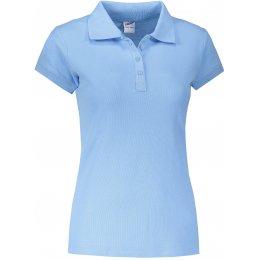 Dámské triko s límečkem JHK REGULAR LADY SKY BLUE