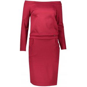 Dámské šaty NUMOCO A225-2 VÍNOVÁ