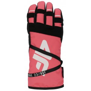 33e210c5801 Dámské lyžařské rukavice 4F RED253 SALMON CORAL NEON