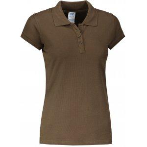 Dámské triko s límečkem JHK REGULAR LADY KHAKI
