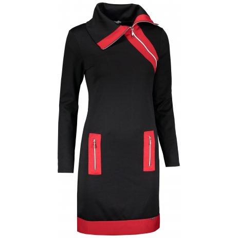 Dámské šaty NUMOCO A129-4 ČERNÁ