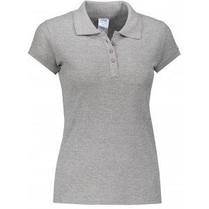 Dámské triko s límečkem JHK REGULAR LADY GREY MELANGE