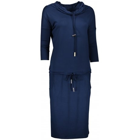 Dámské šaty NUMOCO A44-6 TMAVĚ MODRÁ