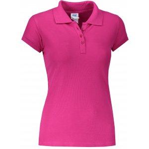 Dámské triko s límečkem JHK REGULAR LADY FUCHSIA