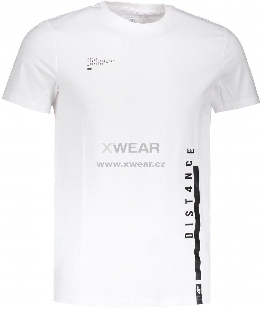 Pánské triko s krátkým rukávem 4F TSM203 WHITE velikost  M   XWEAR.cz 67e511632a