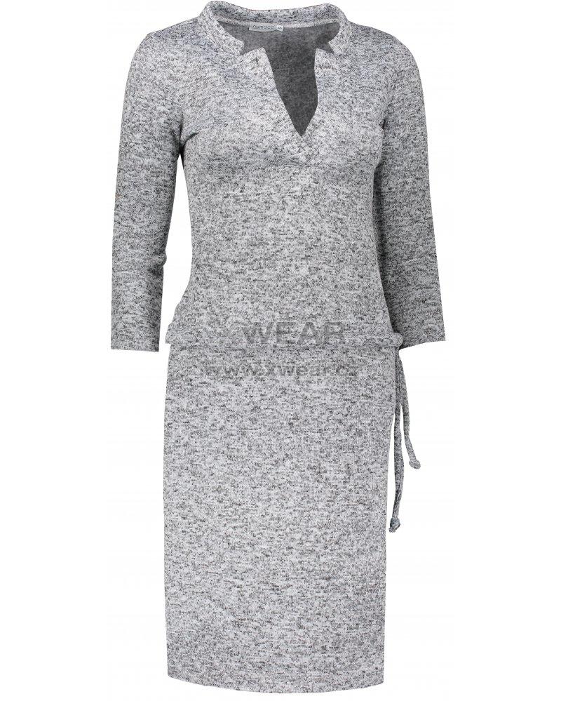 Dámské šaty NUMOCO A161-14 ŠEDÝ MELANŽ velikost  S   XWEAR.cz c82ebebc46c