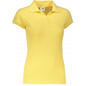 Dámské triko s límečkem JHK REGULAR LADY LIGHT YELLOW