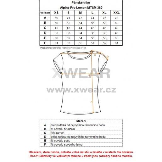 Pánské triko ALPINE PRO LEMON MTSM380 SVĚTLE ŠEDÁ