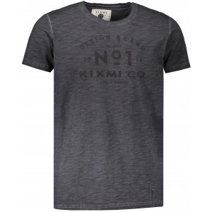 Pánské triko s krátkým rukávem KIXMI HENRIK TMAVĚ ŠEDÁ
