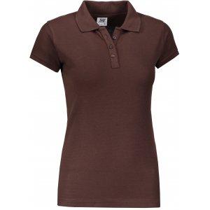 Dámské triko s límečkem JHK REGULAR LADY CHOCOLATE