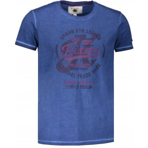 Pánské triko s krátkým rukávem KIXMI HORTON MODRÁ