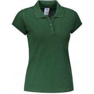 Dámské triko s límečkem JHK REGULAR LADY BOTTLE GREEN