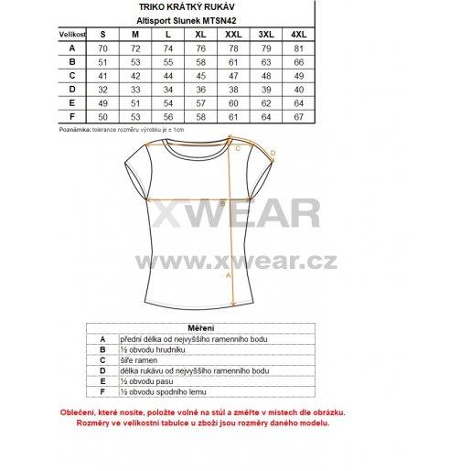 Pánské triko s krátkým rukávem ALTISPORT SLUNEK MTSN422 BÍLÁ