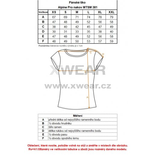 Pánské triko ALPINE PRO NAKOV MTSM381 MODRÁ VZOR