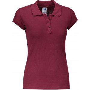 Dámské triko s límečkem JHK REGULAR LADY BURGUNDY