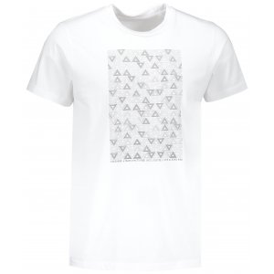 Pánské tričko s krátkým rukávem ALPINE PRO AMIT 6 MTSN365 BÍLÁ