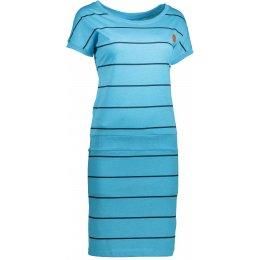 Dámské šaty SAM 73 WZ 752 NEON MODRÁ