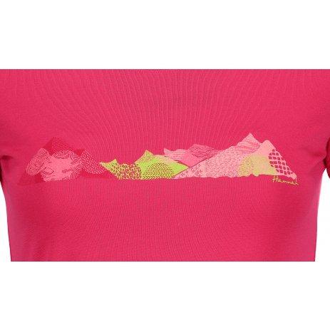 Dámské triko s krátkým rukávem HANNAH COREY BRIGHT ROSE