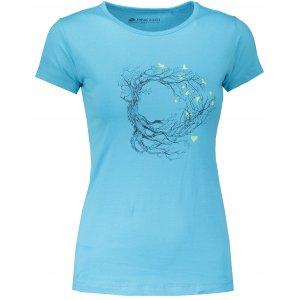 Dámské tričko s krátkým rukávem ALPINE PRO UNEGA 5 LTSN421 MODRÁ