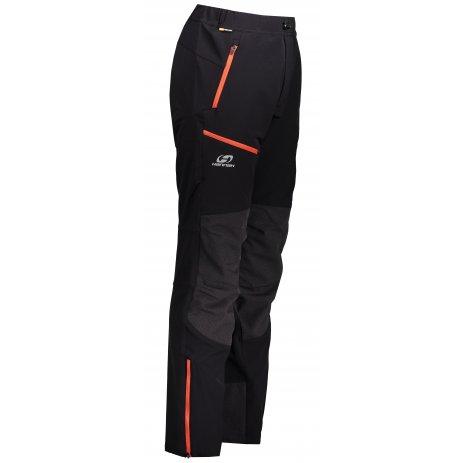 Pánské softshellové kalhoty HANNAH CLAIM ANTHRACITE/ORANGE