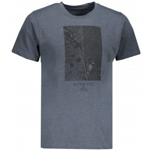 Pánské tričko s krátkým rukávem ALPINE PRO TIBERIO 7 MTSN364 TMAVĚ ŠEDÁ
