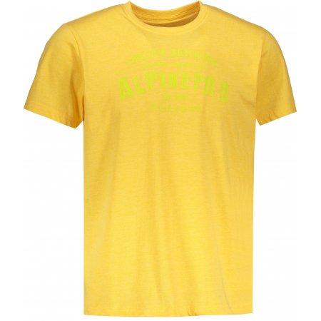 Pánské triko s krátkým rukávem ALPINE PRO DOD MTSN416 ŽLUTÁ