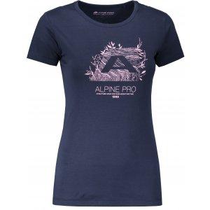 Dámské tričko s krátkým rukávem ALPINE PRO UNEGA 5 LTSN421 TMAVĚ MODRÁ