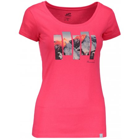 Dámské triko s krátkým rukávem HANNAH ARMELA ROUGE RED