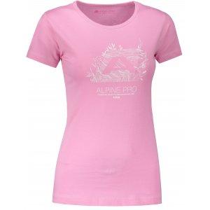 Dámské tričko s krátkým rukávem ALPINE PRO UNEGA 5 LTSN421 RŮŽOVÁ