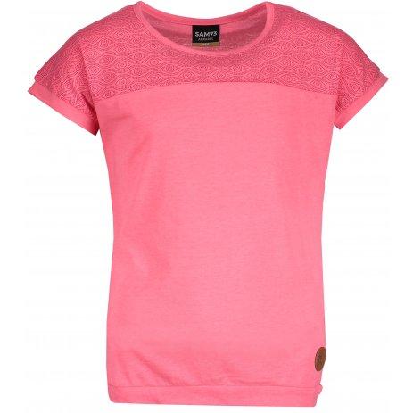 Dívčí triko s krátkým rukávem SAM 73 GT 526 SVĚTLE RŮŽOVÁ