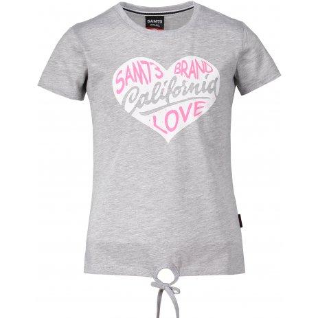 Dívčí triko s krátkým rukávem SAM 73 GT 522 SVĚTLE ŠEDÁ